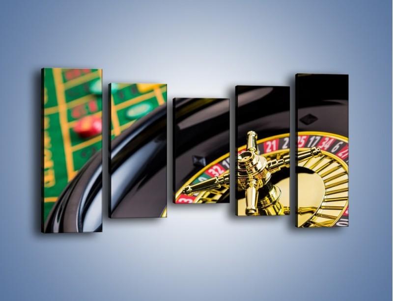 Obraz na płótnie – Czas drogocenny w kasynie – pięcioczęściowy O238W2