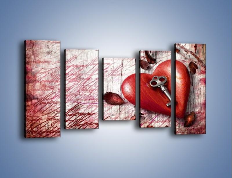 Obraz na płótnie – Klucz do serca – pięcioczęściowy O246W2