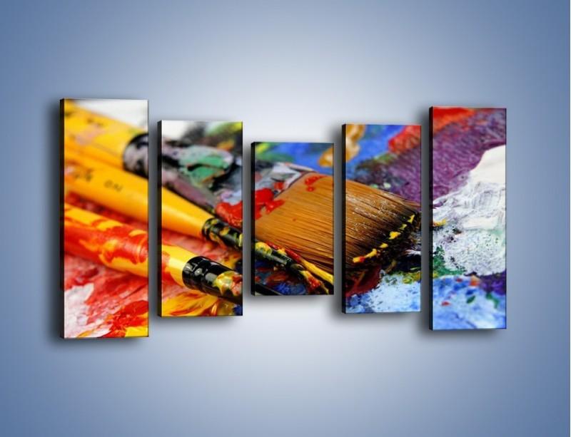 Obraz na płótnie – Kolory ze sobą zmieszane – pięcioczęściowy O251W2