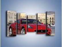 Obraz na płótnie – Czerwone Ferrari California – pięcioczęściowy TM057W2
