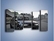 Obraz na płótnie – Czarne BMW E39 M5 – pięcioczęściowy TM072W2