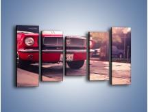 Obraz na płótnie – Czerwony Ford Mustang – pięcioczęściowy TM087W2