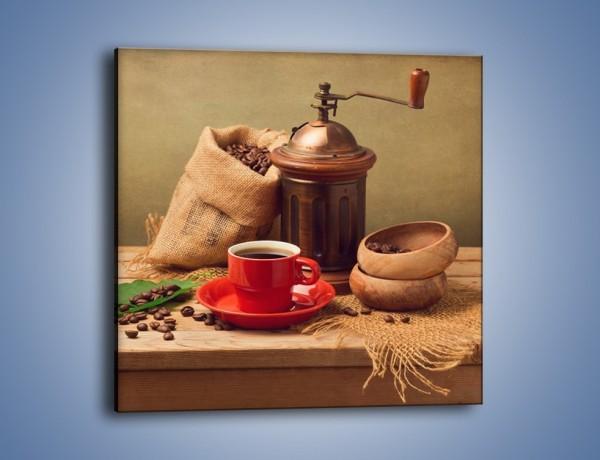 Obraz na płótnie – Zestaw kawowy – jednoczęściowy kwadratowy JN746