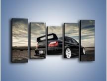 Obraz na płótnie – Czarne Subaru Impreza WRX Sti – pięcioczęściowy TM133W2
