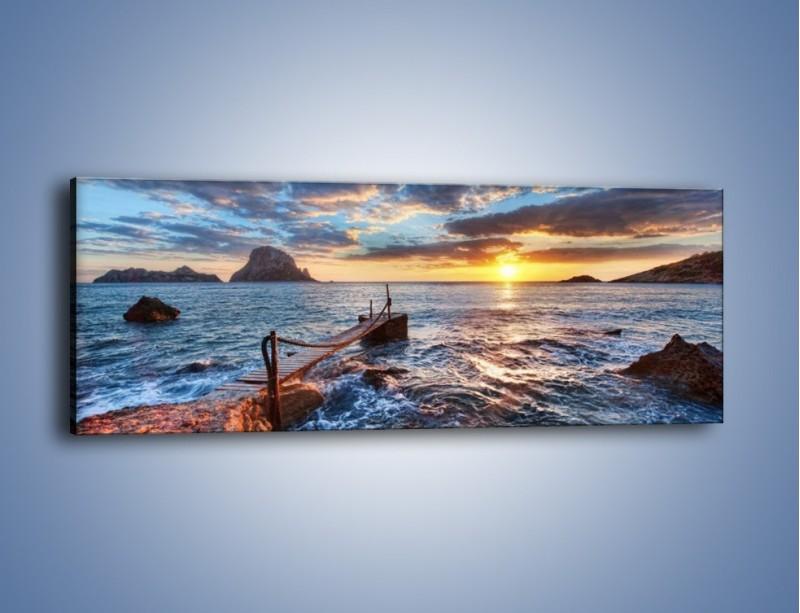Obraz na płótnie – Kładka z jednej strony – jednoczęściowy panoramiczny KN1067