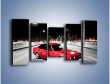 Obraz na płótnie – BMW 5 E34 na moście – pięcioczęściowy TM227W2
