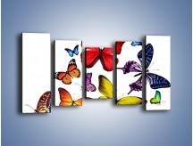 Obraz na płótnie – Kolorowo wśród motyli – pięcioczęściowy Z236W2