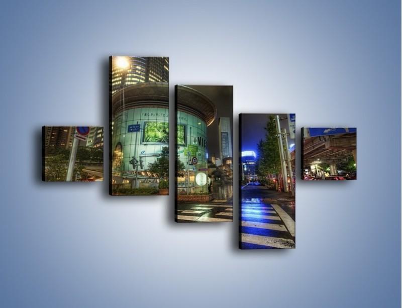 Obraz na płótnie – Spokojne Tokyo nocą – pięcioczęściowy AM056W3