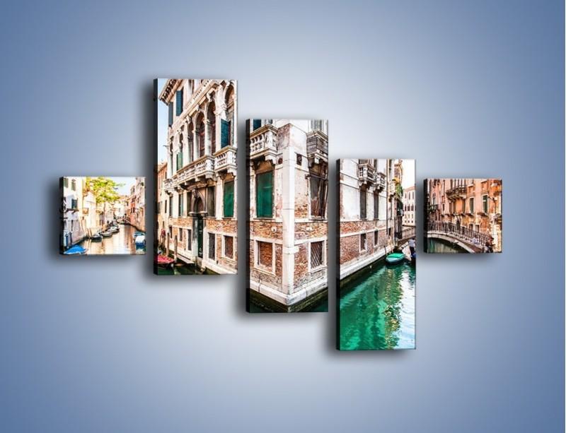 Obraz na płótnie – Skrzyżowanie wodne w Wenecji – pięcioczęściowy AM081W3