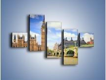 Obraz na płótnie – Big Ben w pochmurny dzień – pięcioczęściowy AM095W3