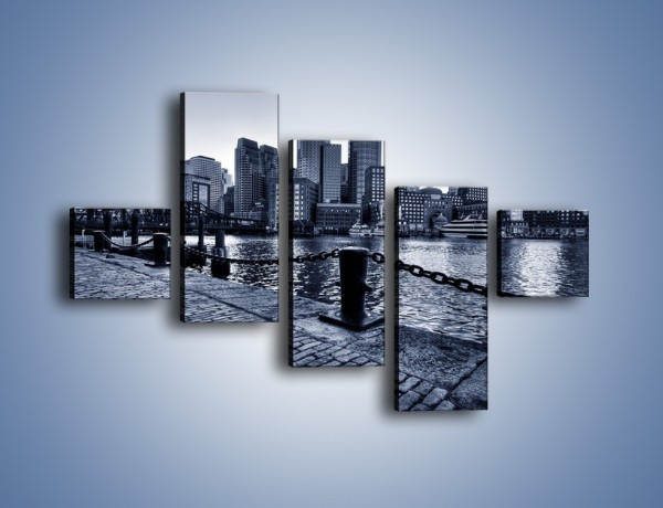 Obraz na płótnie – Wybrukowana wybrzeże miasta – pięcioczęściowy AM132W3