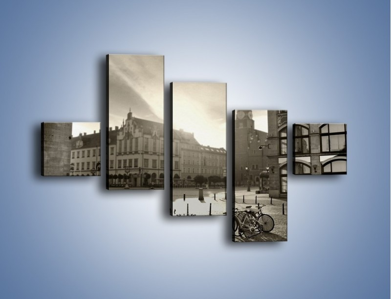 Obraz na płótnie – Rynek Starego Miasta – pięcioczęściowy AM136W3