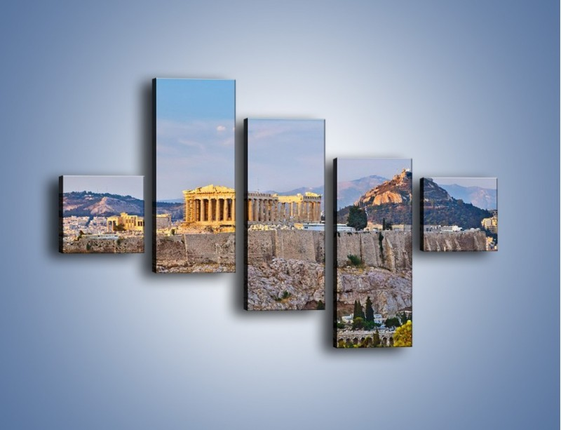 Obraz na płótnie – Ateńskie ruiny – pięcioczęściowy AM162W3