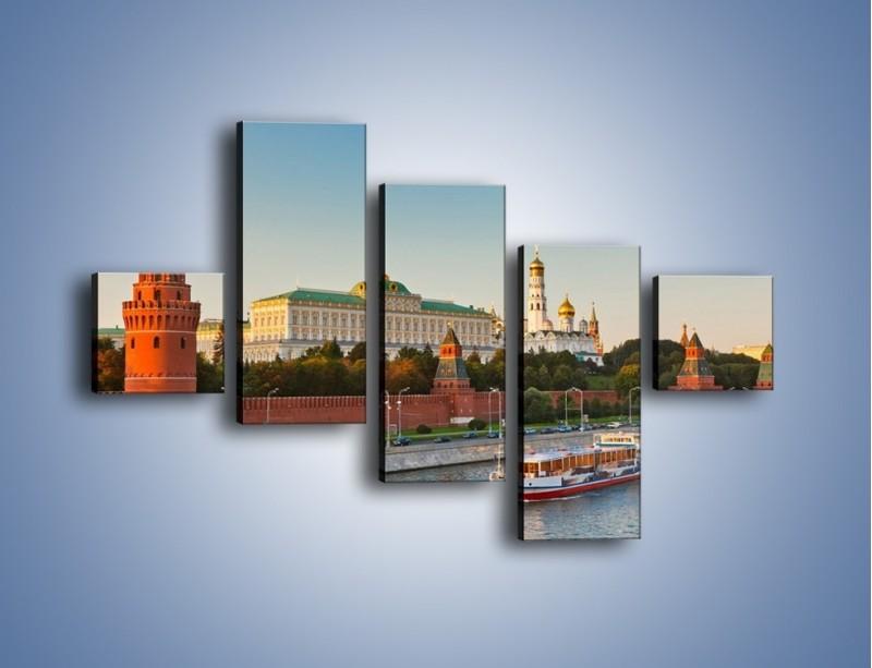 Obraz na płótnie – Kreml w środku lata – pięcioczęściowy AM164W3