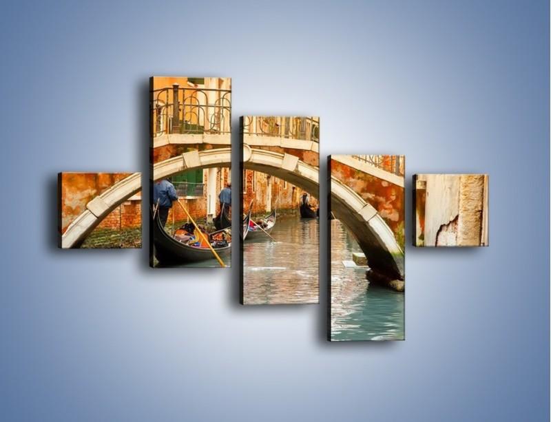 Obraz na płótnie – Weneckie gondole – pięcioczęściowy AM172W3