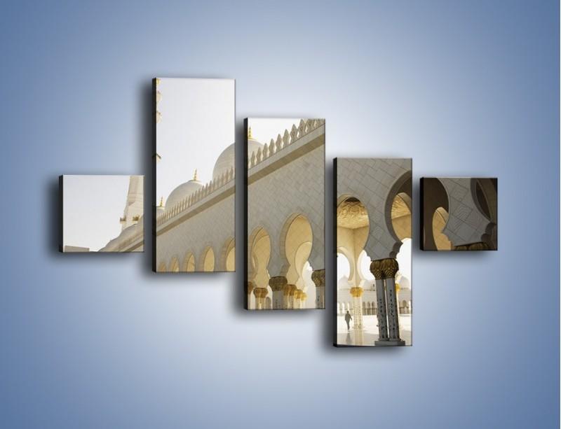 Obraz na płótnie – Bliskowschodnia architektura – pięcioczęściowy AM177W3