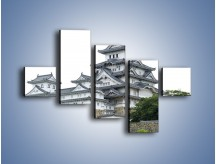 Obraz na płótnie – Azjatycka architektura – pięcioczęściowy AM181W3