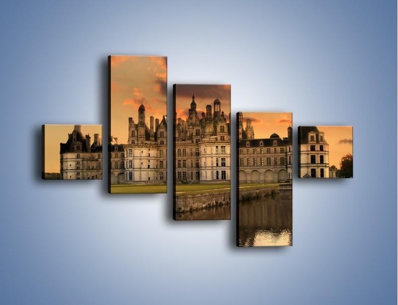 Obraz na płótnie – Stary zamek – pięcioczęściowy AM200W3