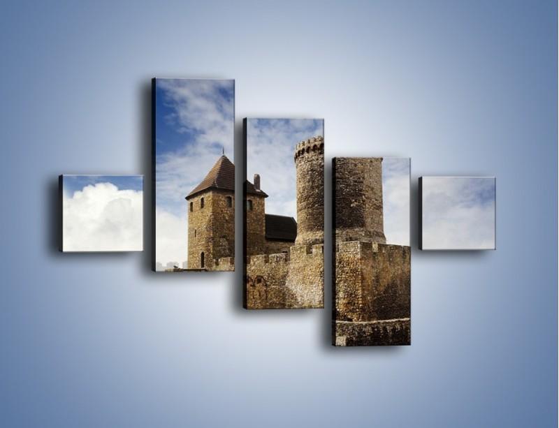 Obraz na płótnie – Średniowieczna fortyfikacja – pięcioczęściowy AM201W3