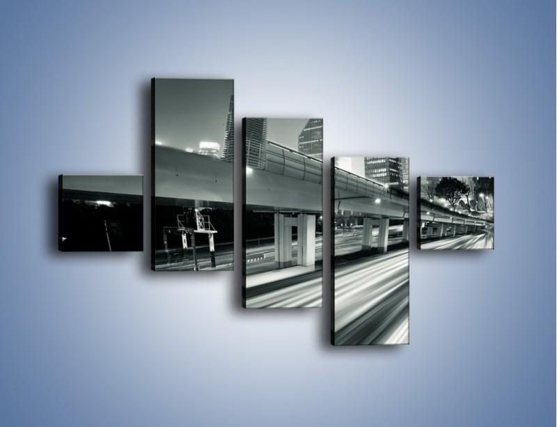 Obraz na płótnie – Miasto w odcieniach szarości – pięcioczęściowy AM205W3
