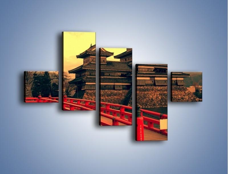 Obraz na płótnie – Japońska architektura – pięcioczęściowy AM235W3