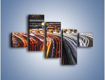 Obraz na płótnie – Autostradowa bramka w ruchu świateł – pięcioczęściowy AM236W3