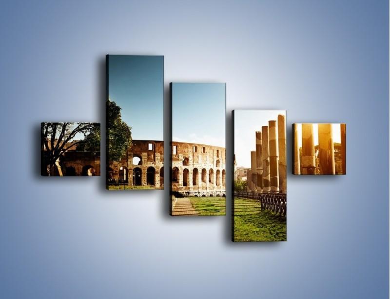 Obraz na płótnie – Koloseum w świetle słońca – pięcioczęściowy AM269W3