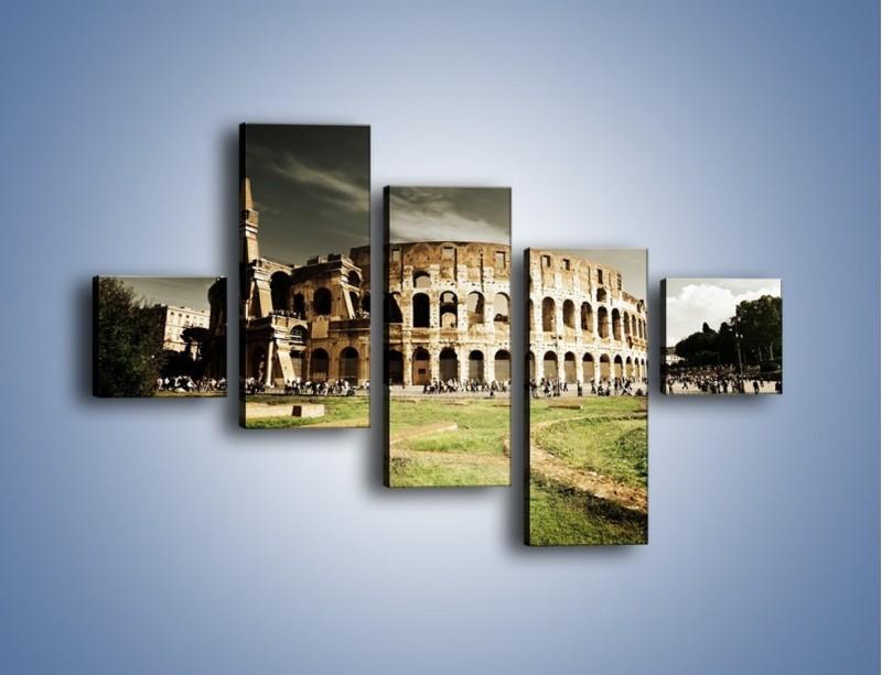 Obraz na płótnie – Koloseum przed burzą – pięcioczęściowy AM271W3
