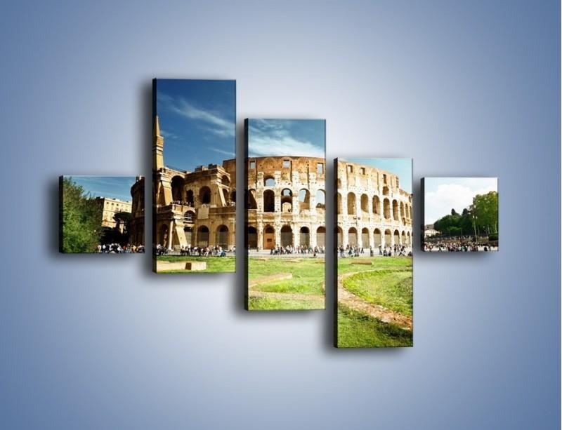 Obraz na płótnie – Koloseum w piękny dzień – pięcioczęściowy AM273W3