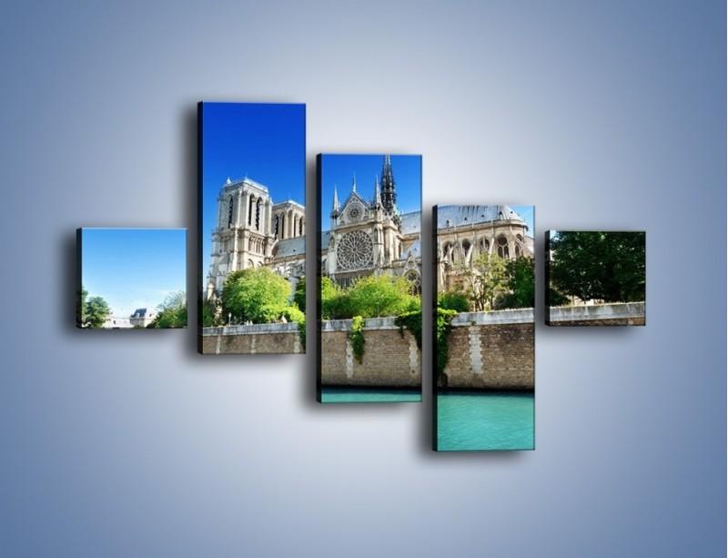 Obraz na płótnie – Katedra Notre-Dame – pięcioczęściowy AM305W3