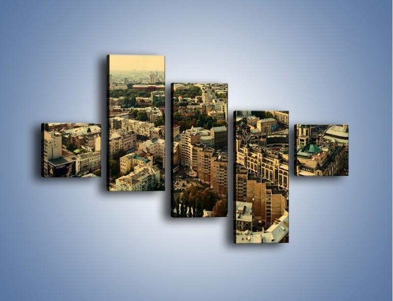 Obraz na płótnie – Panorama Kijowa – pięcioczęściowy AM326W3