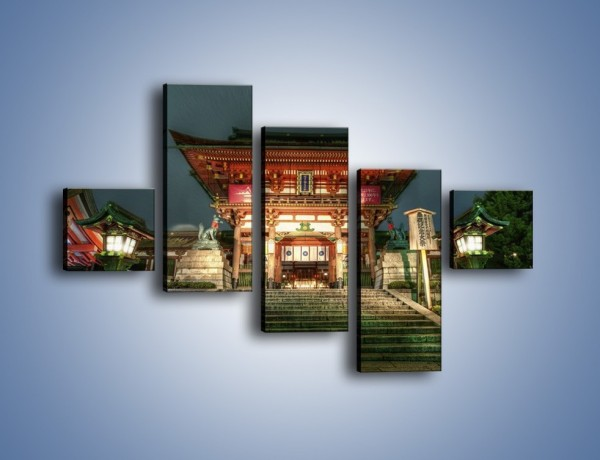 Obraz na płótnie – Świątynia w Kyoto – pięcioczęściowy AM327W3