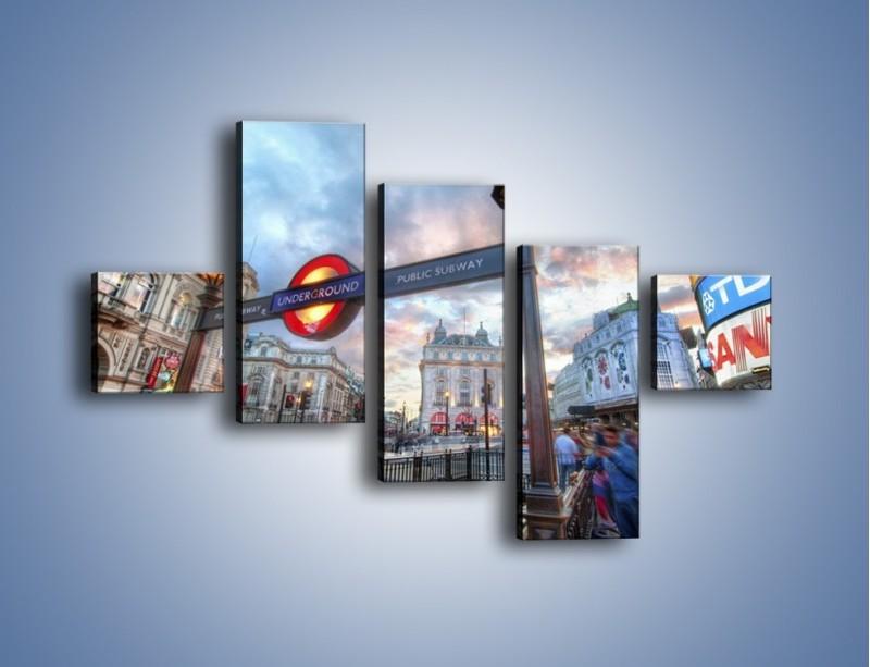 Obraz na płótnie – Wejście do londyńskiego metro – pięcioczęściowy AM334W3