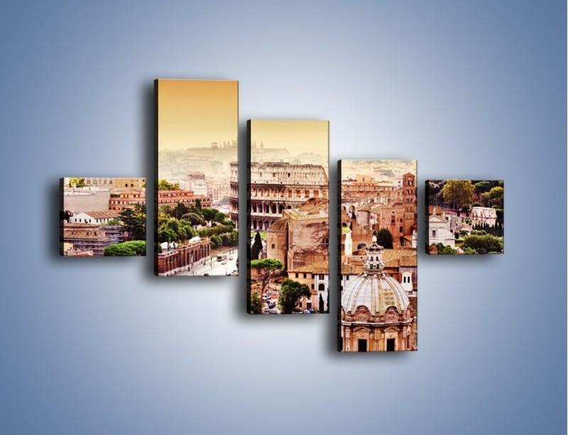 Obraz na płótnie – Panorama Rzymu – pięcioczęściowy AM338W3