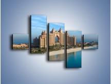 Obraz na płótnie – Atlantis Hotel w Dubaju – pięcioczęściowy AM341W3