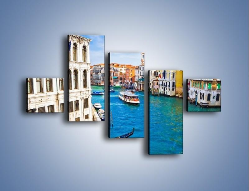 Obraz na płótnie – Kolorowy świat Wenecji – pięcioczęściowy AM362W3