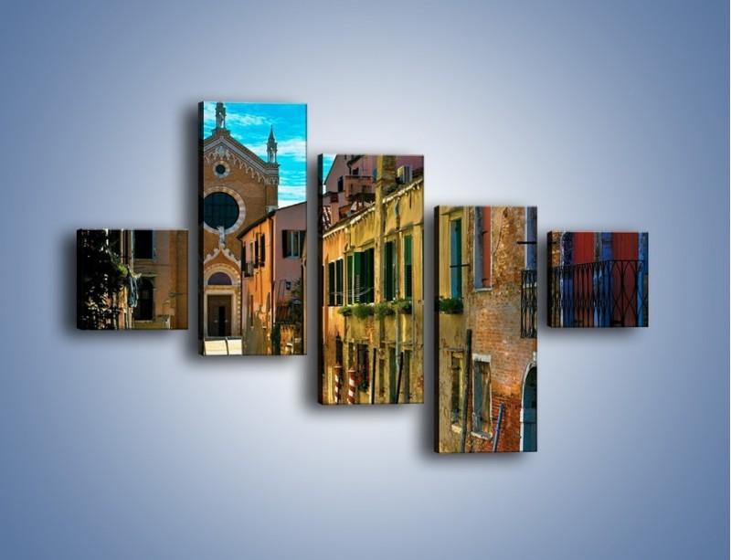 Obraz na płótnie – Cały urok Wenecji w jednym kadrze – pięcioczęściowy AM371W3
