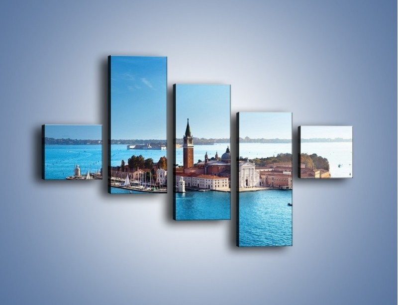 Obraz na płótnie – Wyspa San Giorgio Maggiore – pięcioczęściowy AM380W3