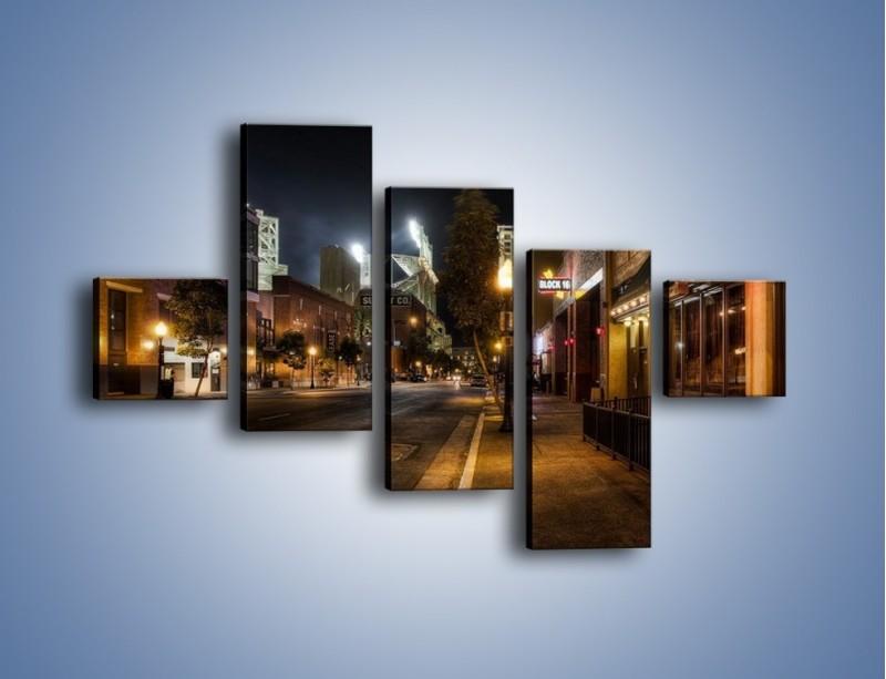 Obraz na płótnie – Ulica San Diego w Kaliforni – pięcioczęściowy AM390W3