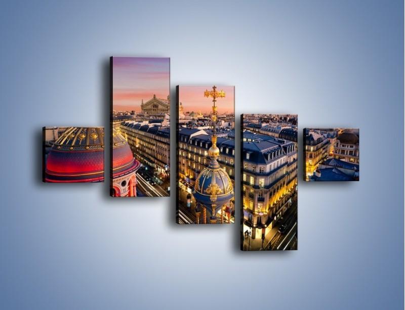 Obraz na płótnie – Paryska architektura – pięcioczęściowy AM402W3