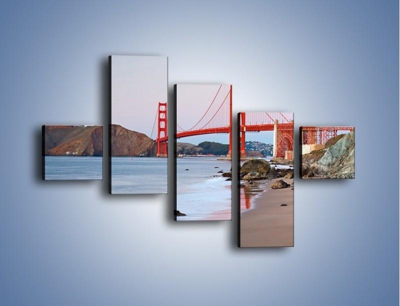 Obraz na płótnie – Most Golden Gate – pięcioczęściowy AM406W3