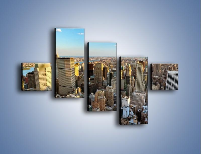 Obraz na płótnie – Manhattan w Nowym Yorku – pięcioczęściowy AM412W3