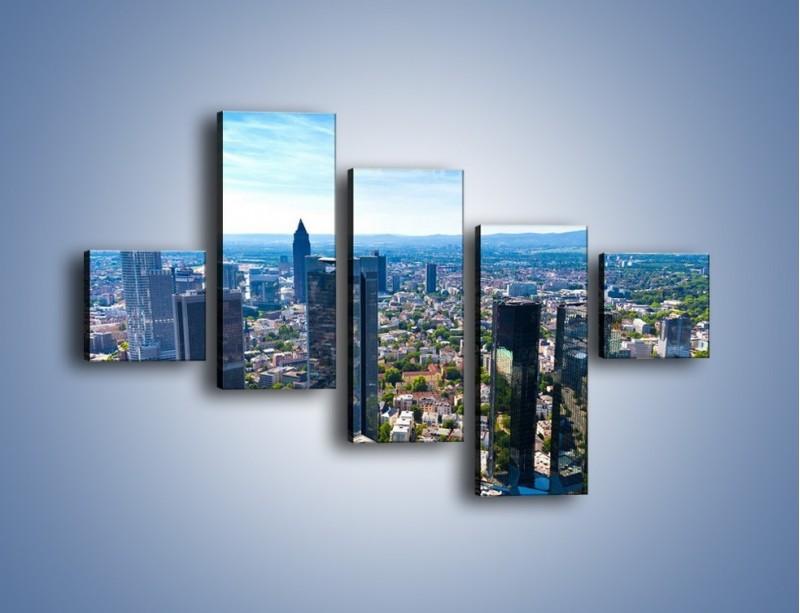 Obraz na płótnie – Panorama Frankfurtu – pięcioczęściowy AM414W3
