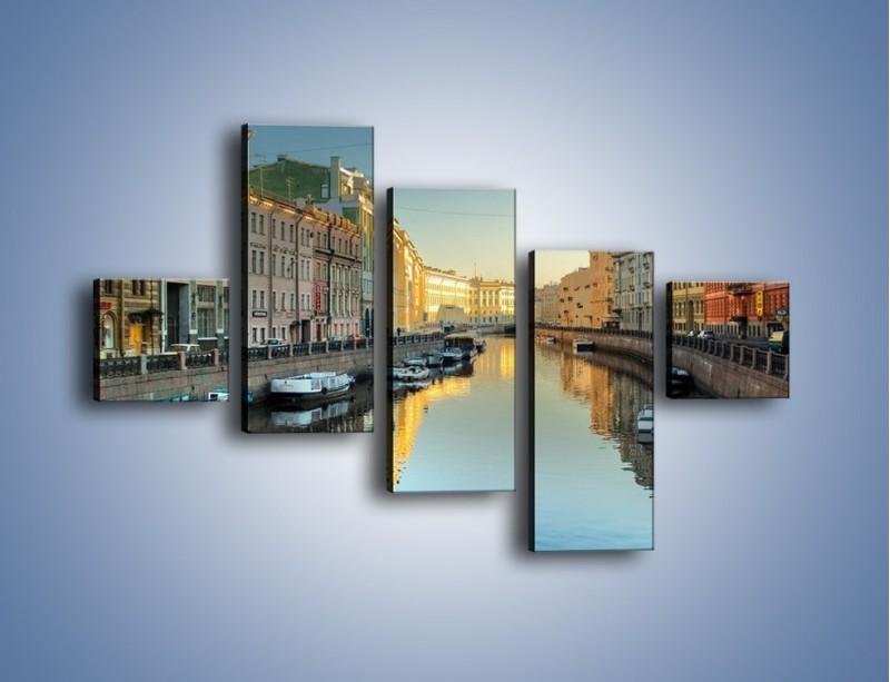 Obraz na płótnie – Kanał wodny w St. Petersburgu – pięcioczęściowy AM422W3