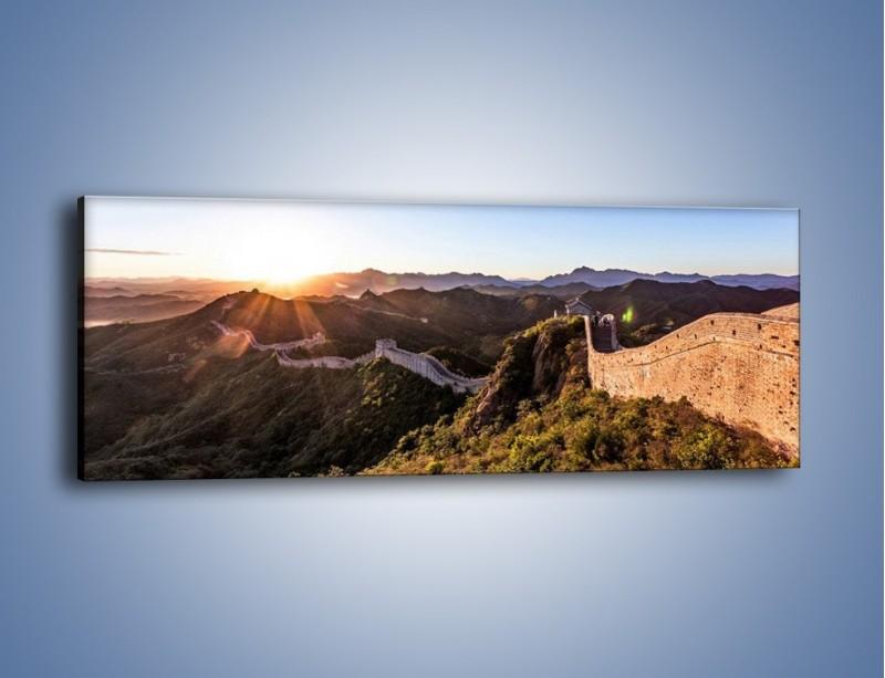 Obraz na płótnie – Za górami za lasami – jednoczęściowy panoramiczny KN1084A