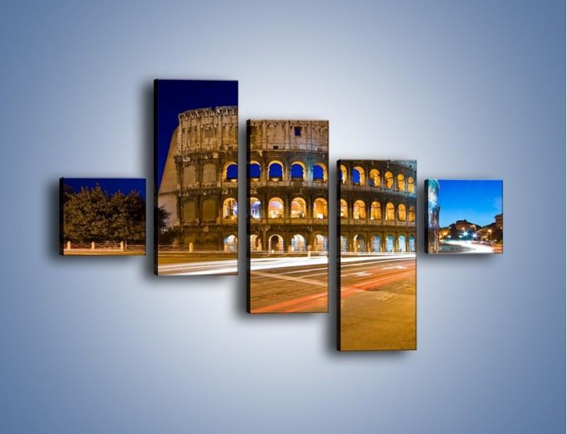 Obraz na płótnie – Koloseum po zmierzchu – pięcioczęściowy AM443W3