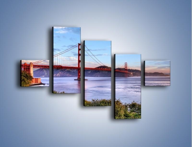 Obraz na płótnie – Most Golden Gate w San Francisco – pięcioczęściowy AM444W3