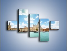 Obraz na płótnie – Canal Grande w Wenecji – pięcioczęściowy AM449W3