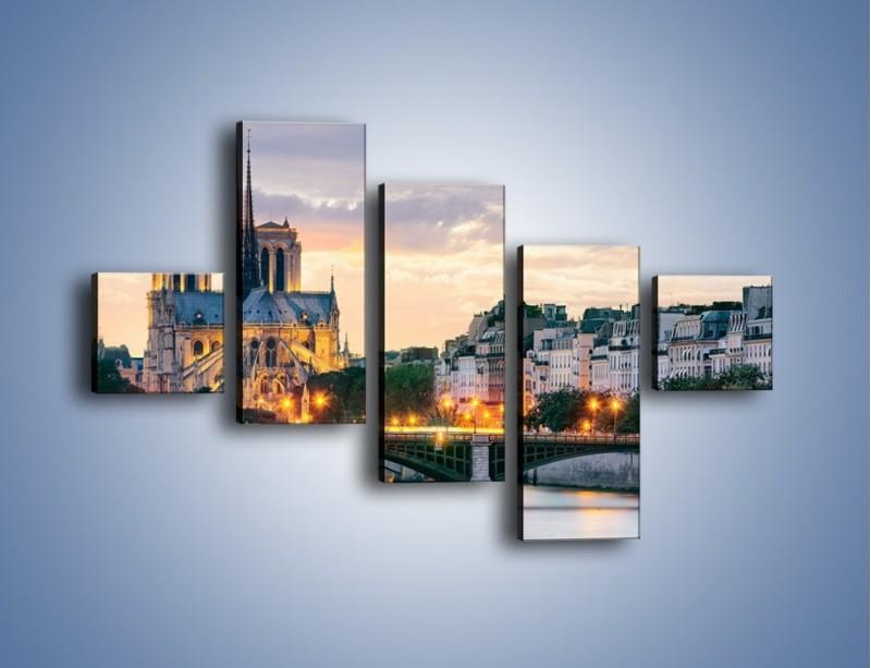 Obraz na płótnie – Katedra Notre Dame – pięcioczęściowy AM454W3