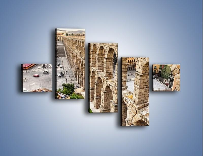 Obraz na płótnie – Akwedukt w Segowii – pięcioczęściowy AM456W3
